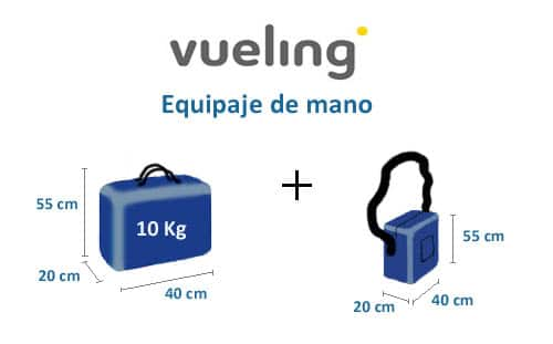 Vueling hand baggage size
