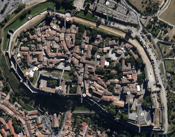 Carcassonne from the air