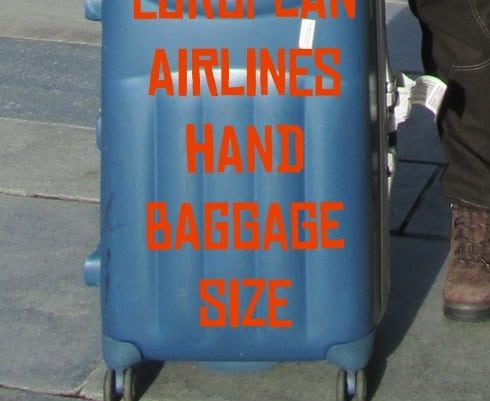 hand baggage suitcase sizes